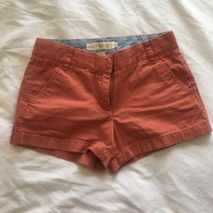 J. Crew Chino Short in Rusty Red